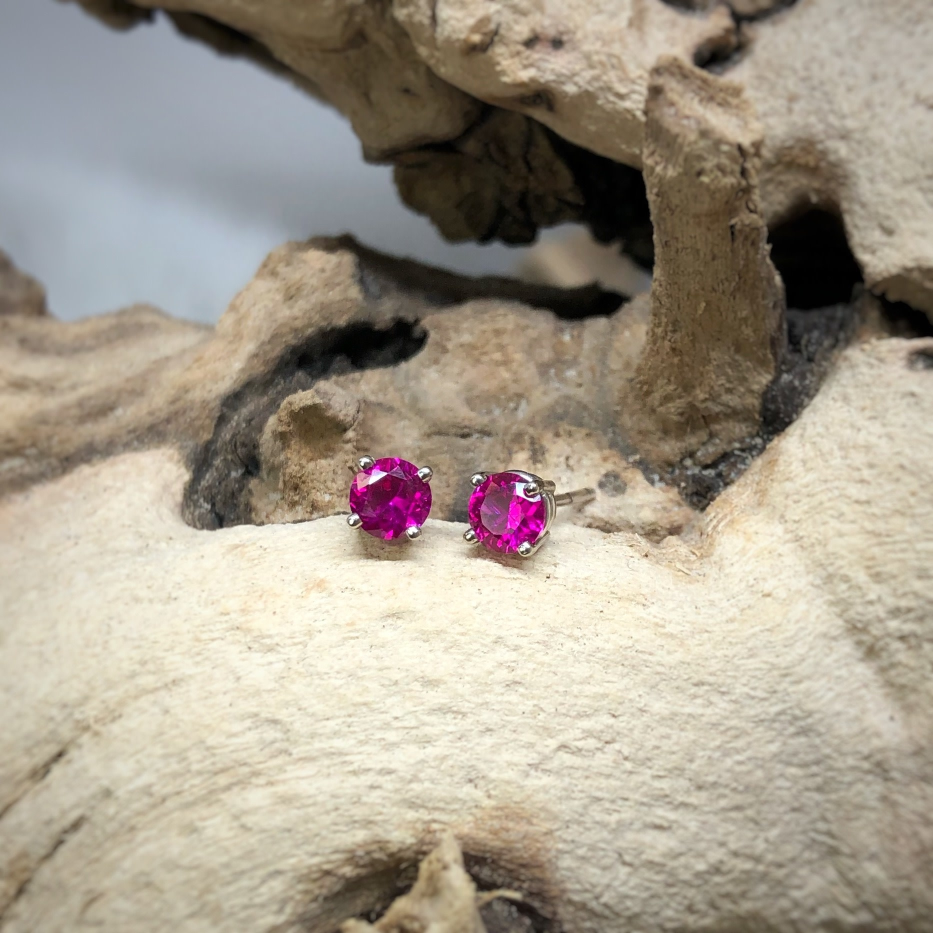 14k cr Ruby Stud Earrings