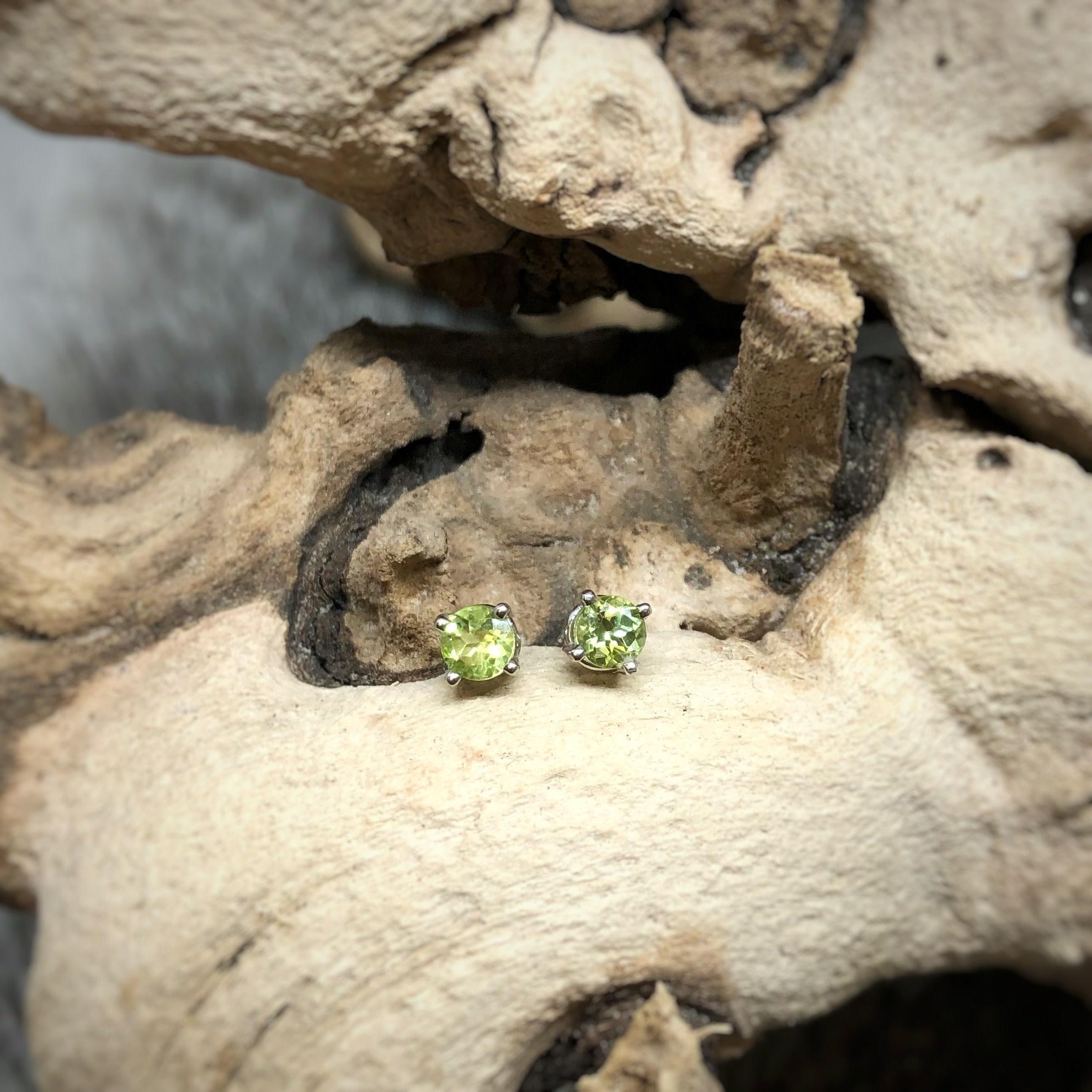 14k rd Peridot Earrings