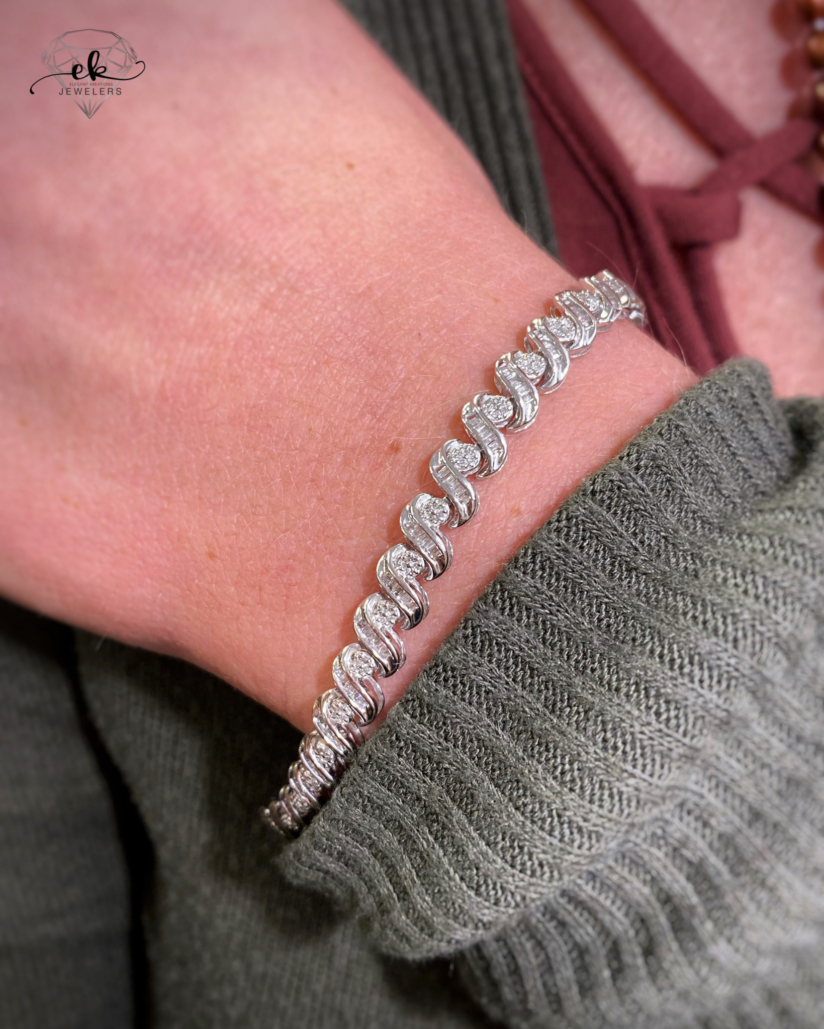 10k WG 1.10tw Diamond Bracelet