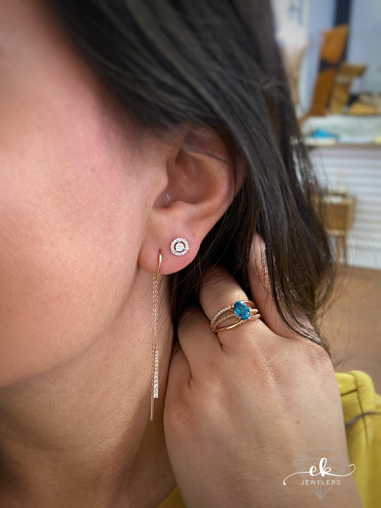 .26ct Diamond Threader RG Earrings