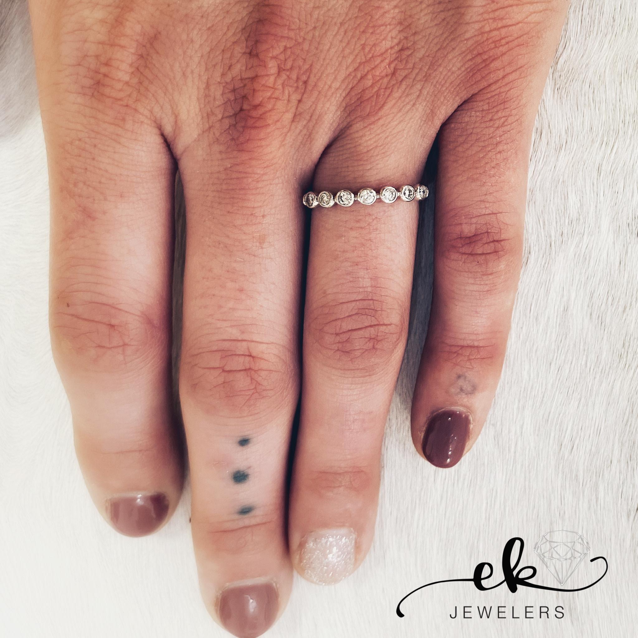 Diamond Bezel Band Ring