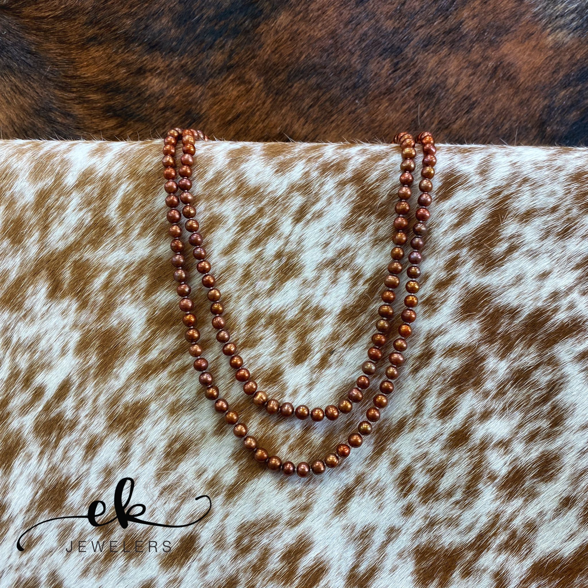 Chocolate Freshwater Pearls Long Strand Necklace