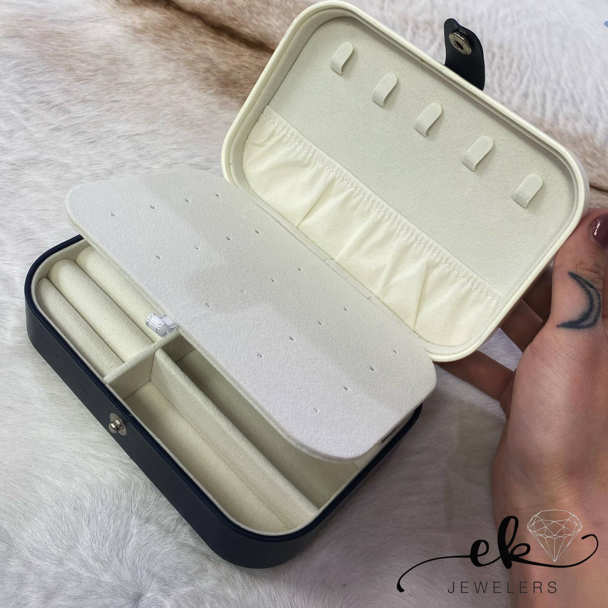 Button Travel Jewelry Box