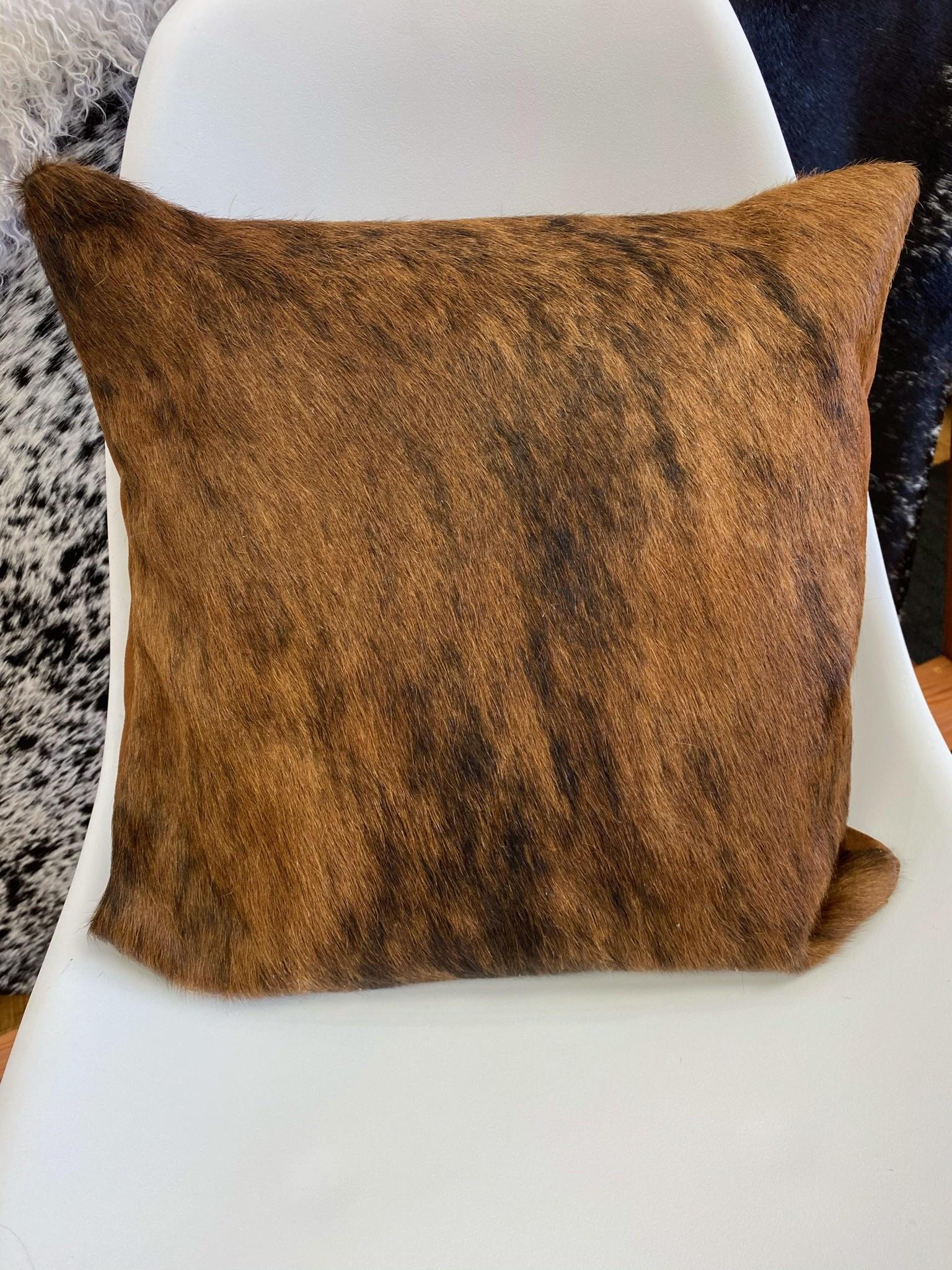 Brindle Cowhide Pillow