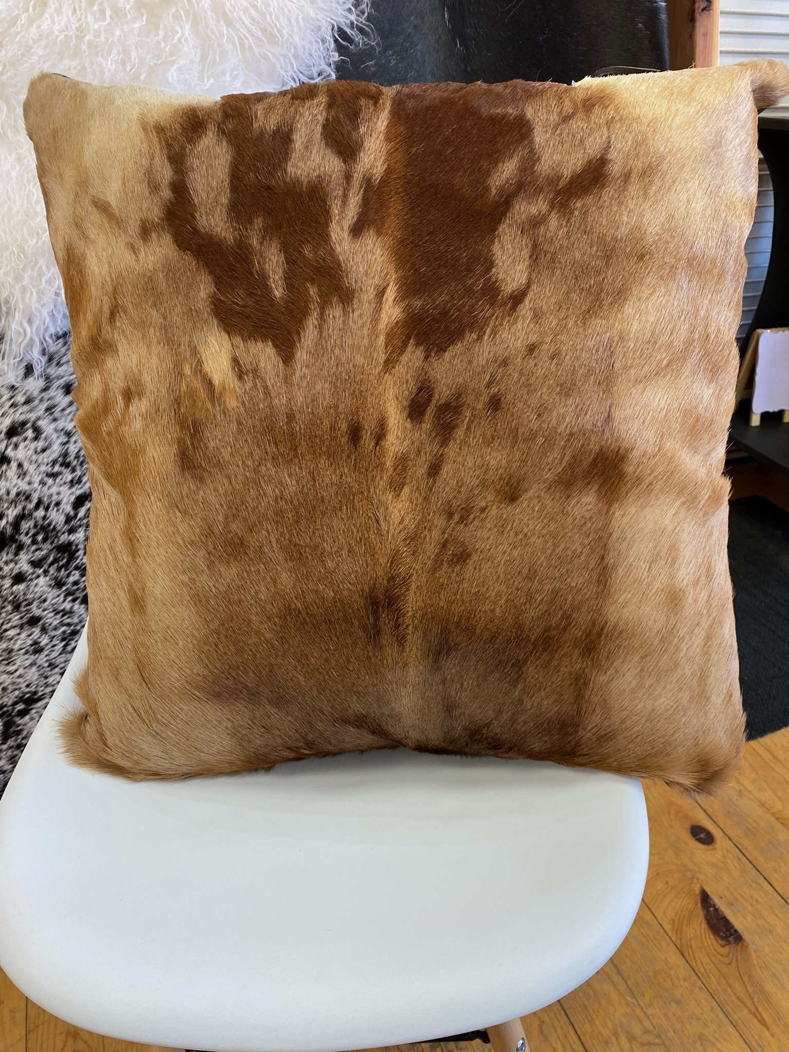 African Hartebeest Hide Pillow