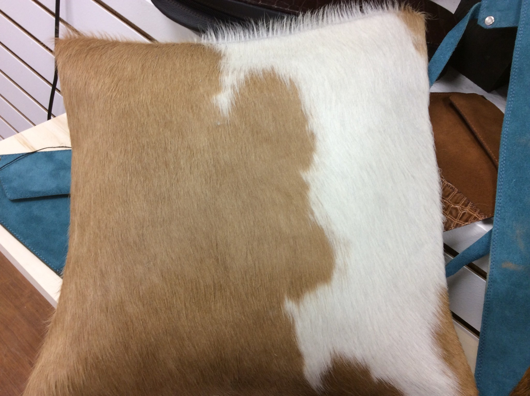 Palomino and White Cowhide Pillow