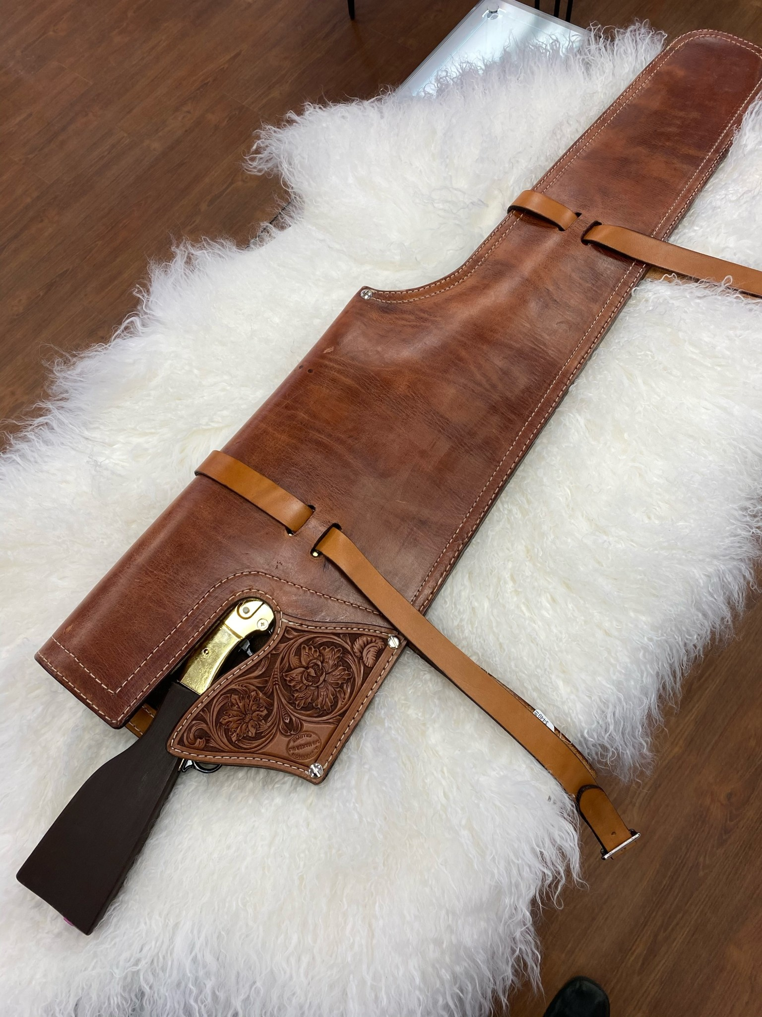 Handmade Lined Leather Scabbard