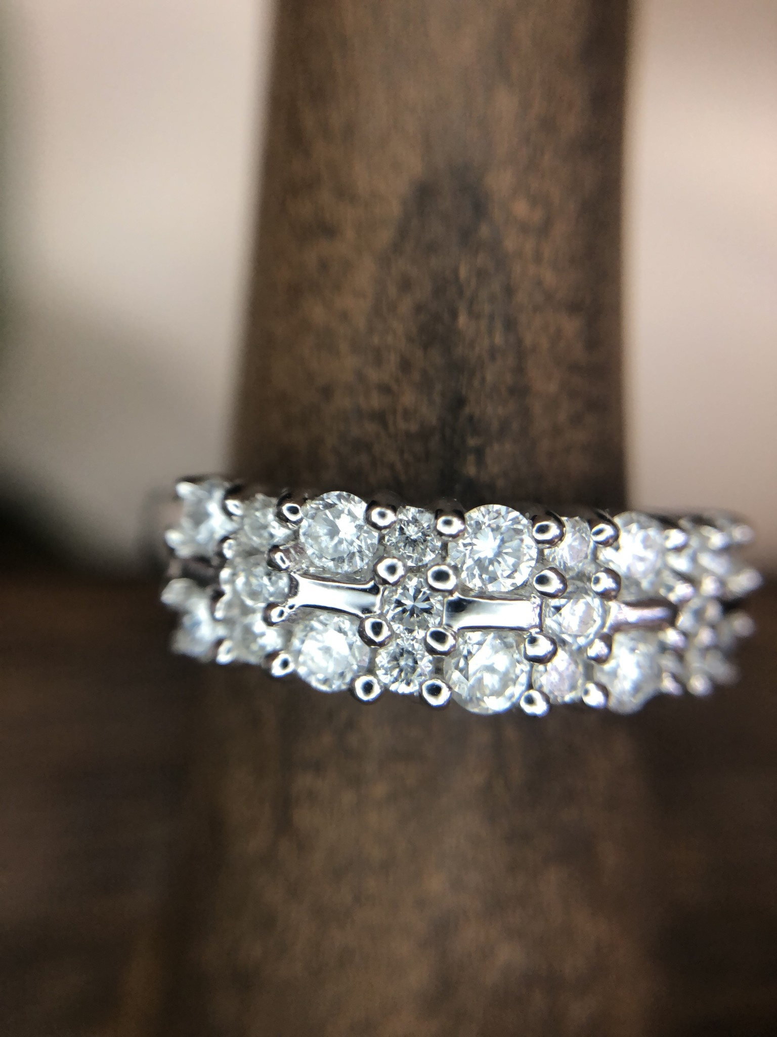 Diamond Ring 3/4 Total Carat in 14K White Gold