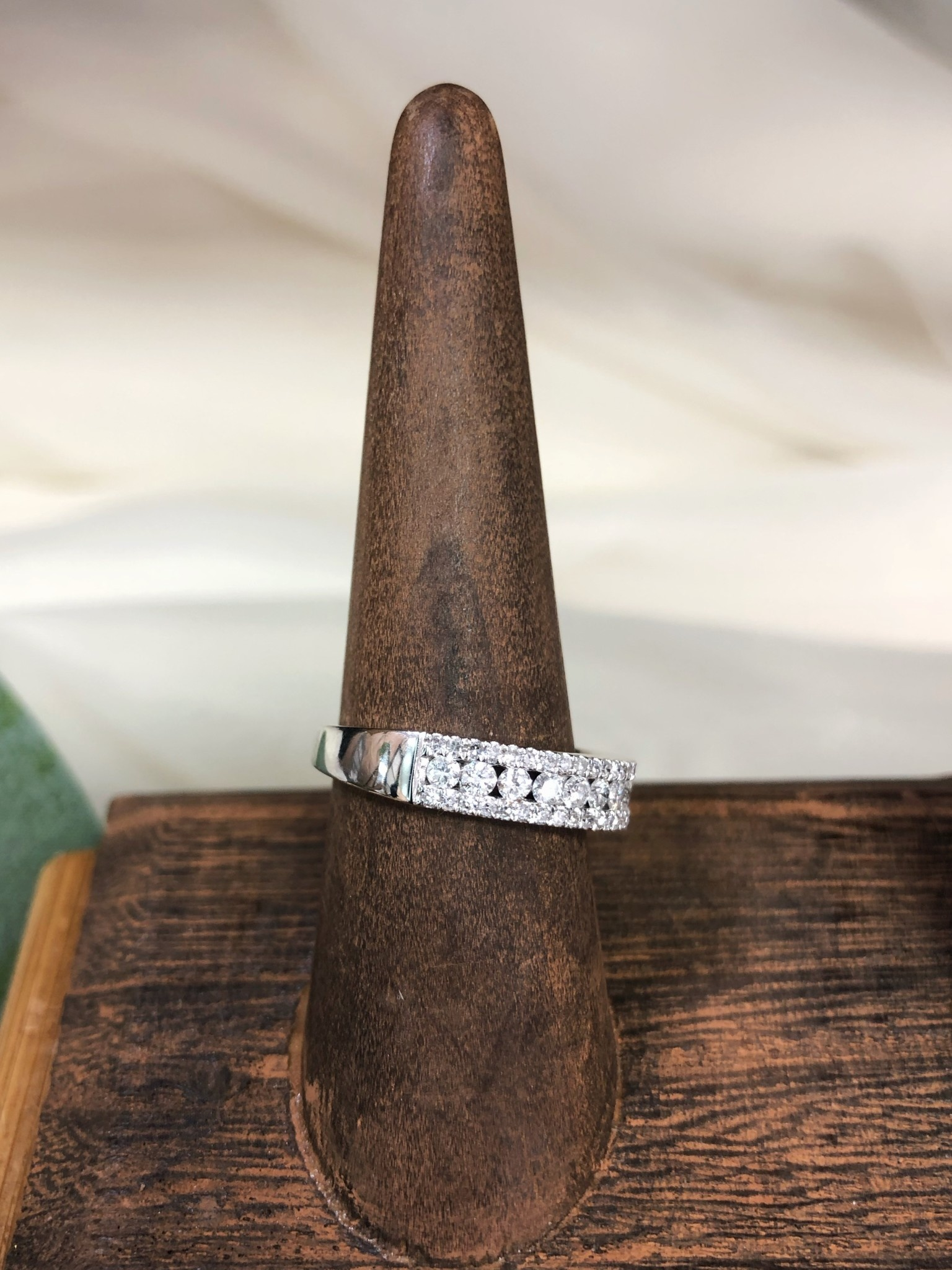 Diamond Band Ring in 14K White Gold