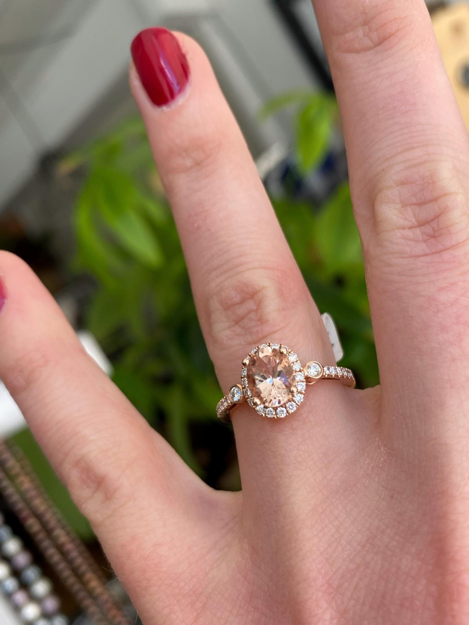 Ov Morg 1.15ct Dia Ring
