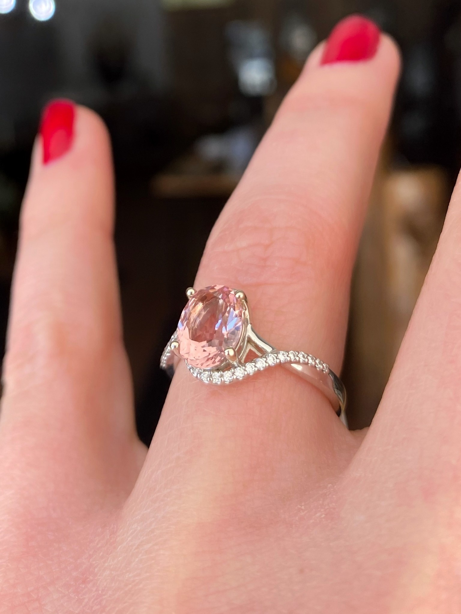 1.61ct Fine Morg WG Dia Ring