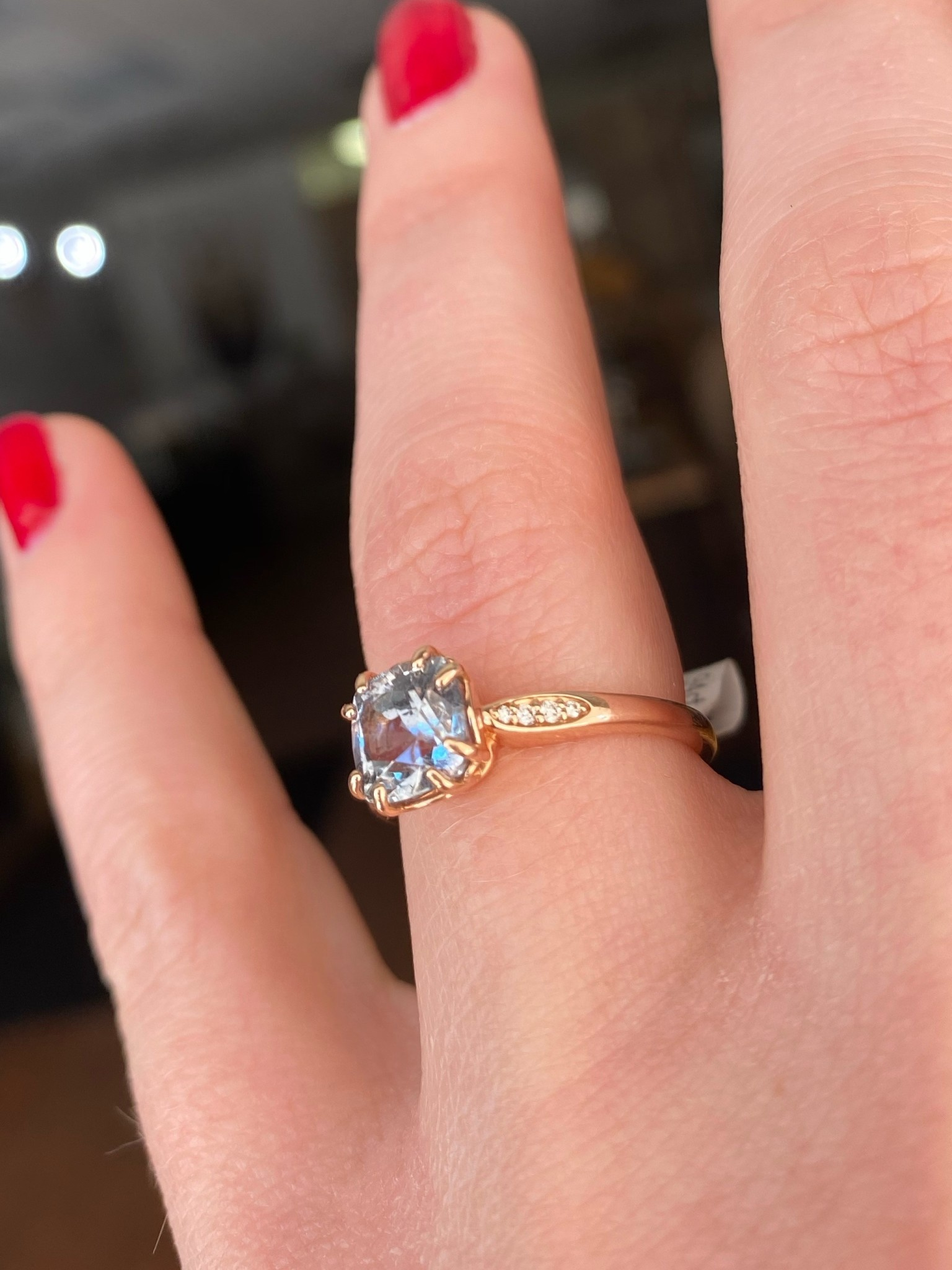 1.94ct Cushion Sapphire Solitaire Ring