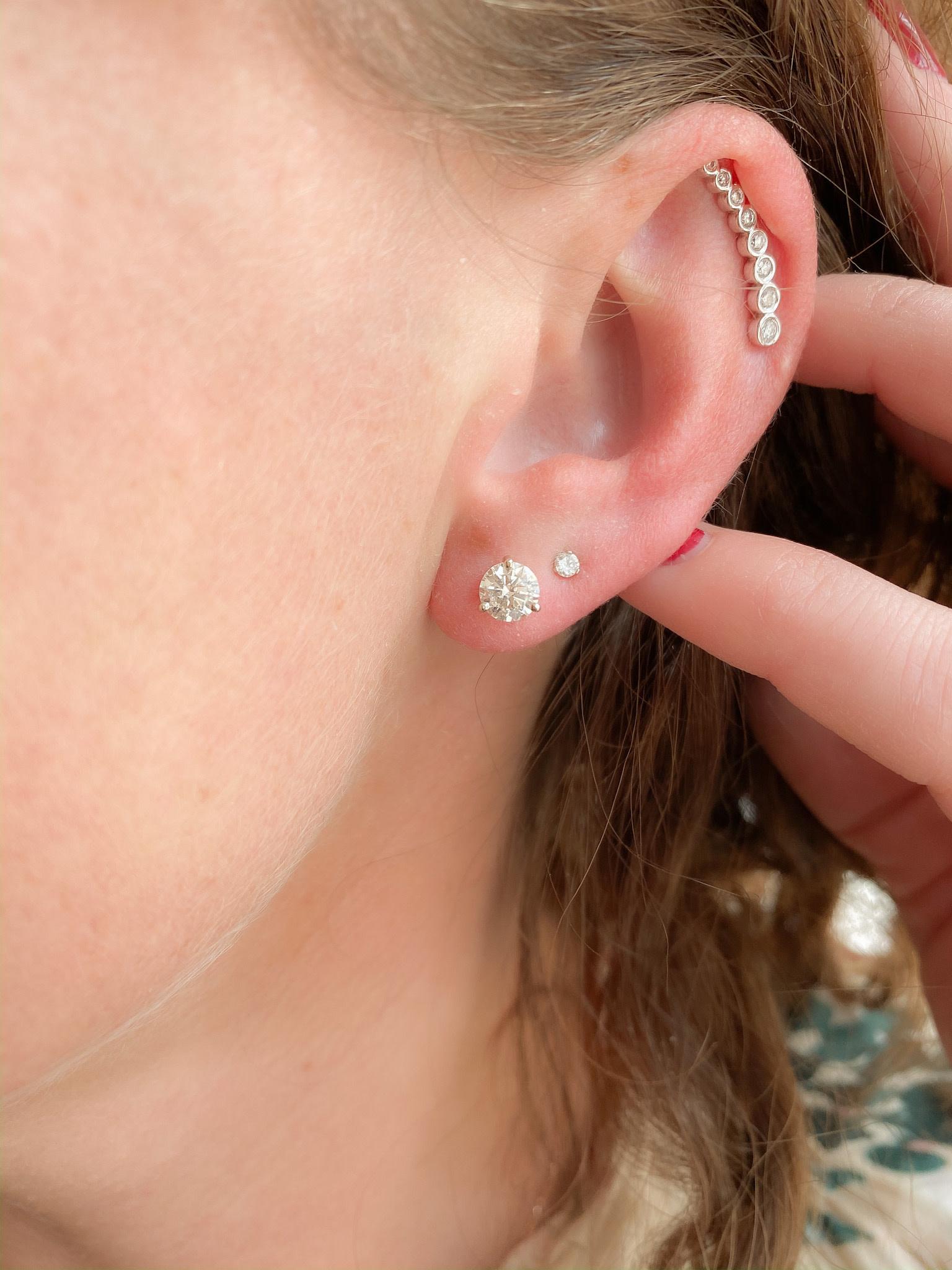 14kw .31ctw climber earring