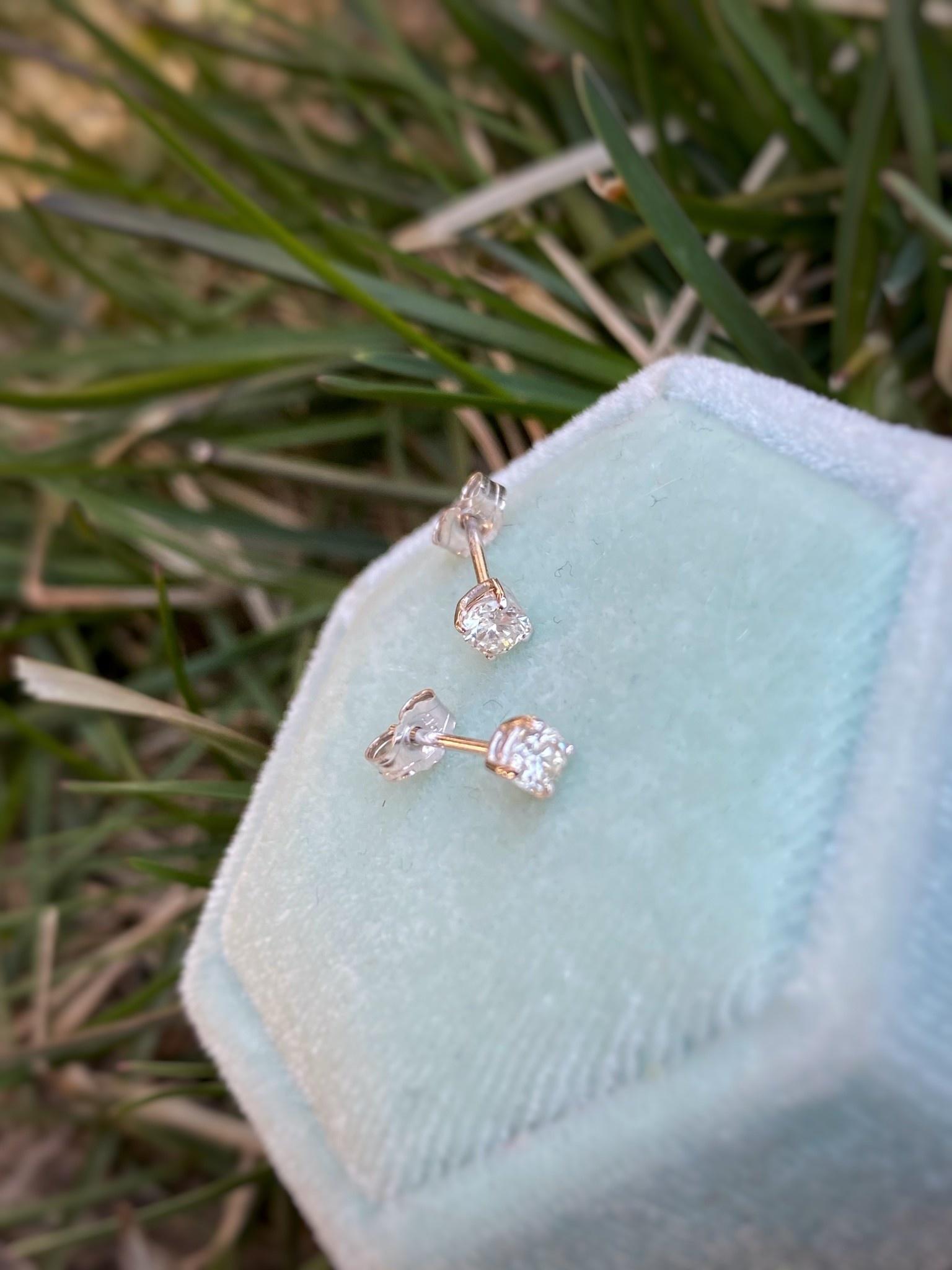 0.20ctw Round Diamond Stud Earrings