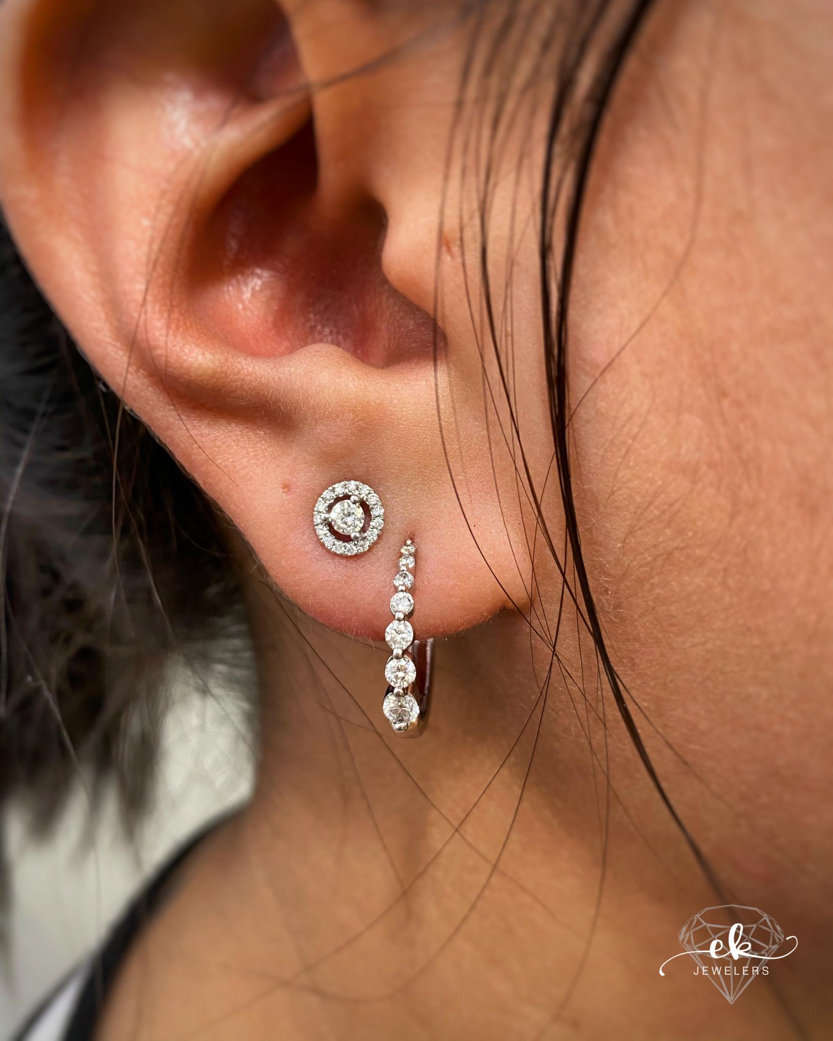 .50ctw Diamond Journey Hoop Earrings