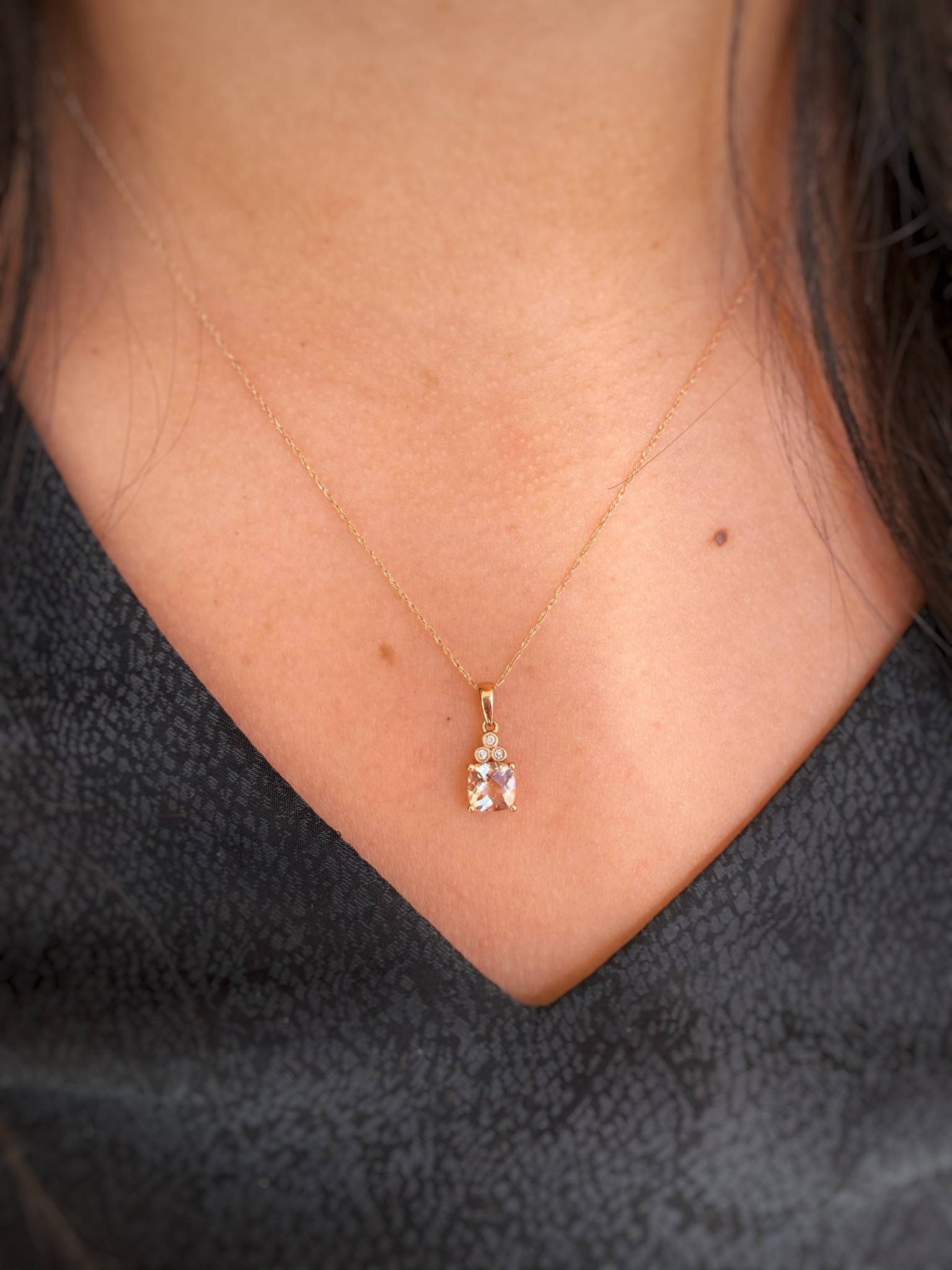 Cush Morg .72ct Dia Necklace