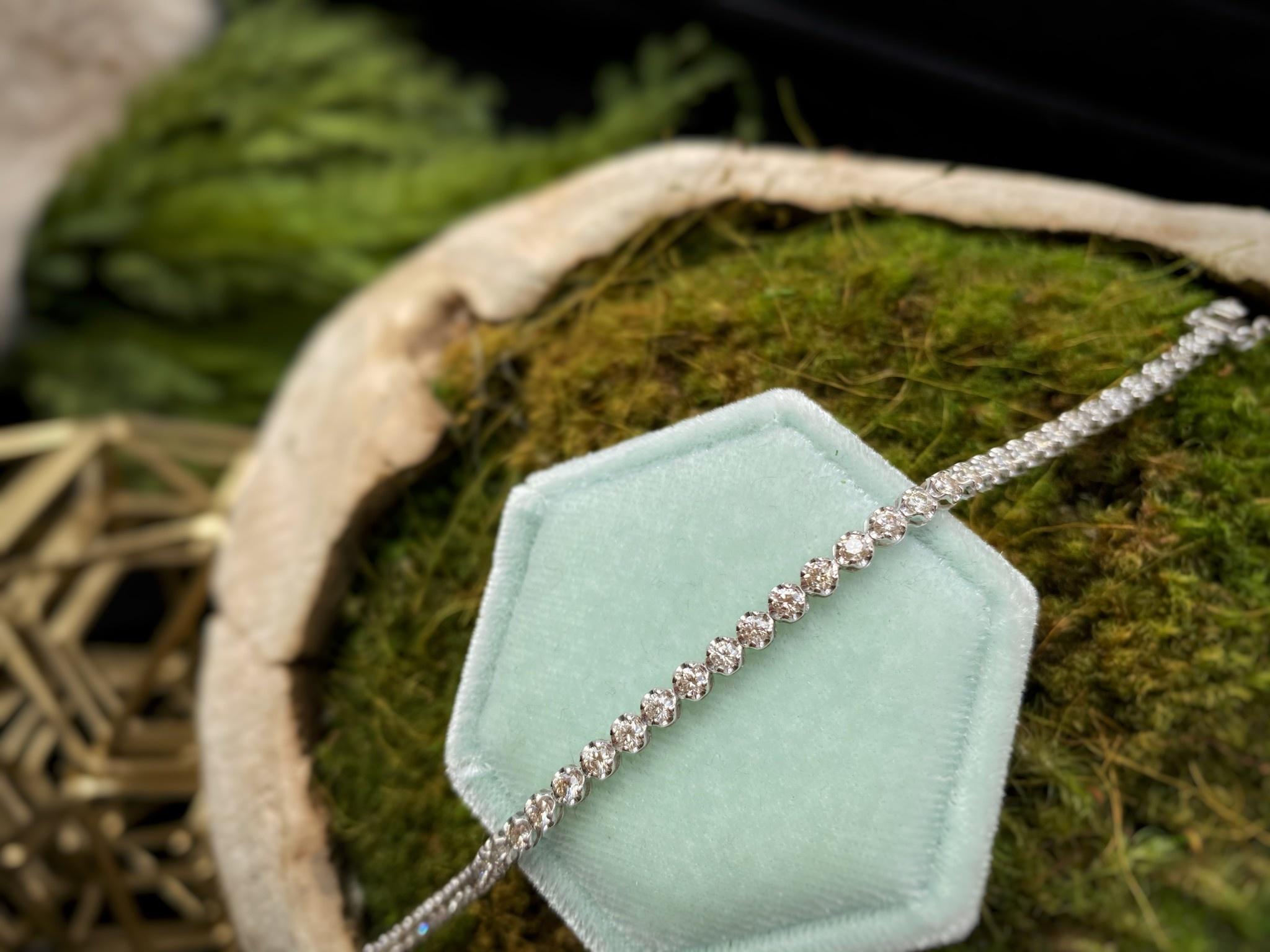 18k White Gold 2.0ct Diamond Tennis Bracelet
