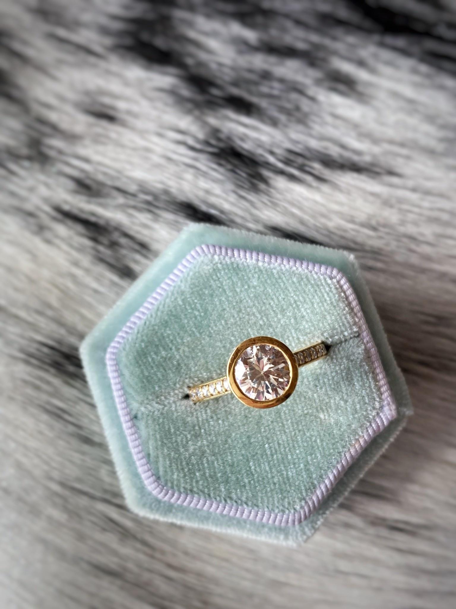 Bezel Diamond Solitaire Semi-Mount 0.30ctw