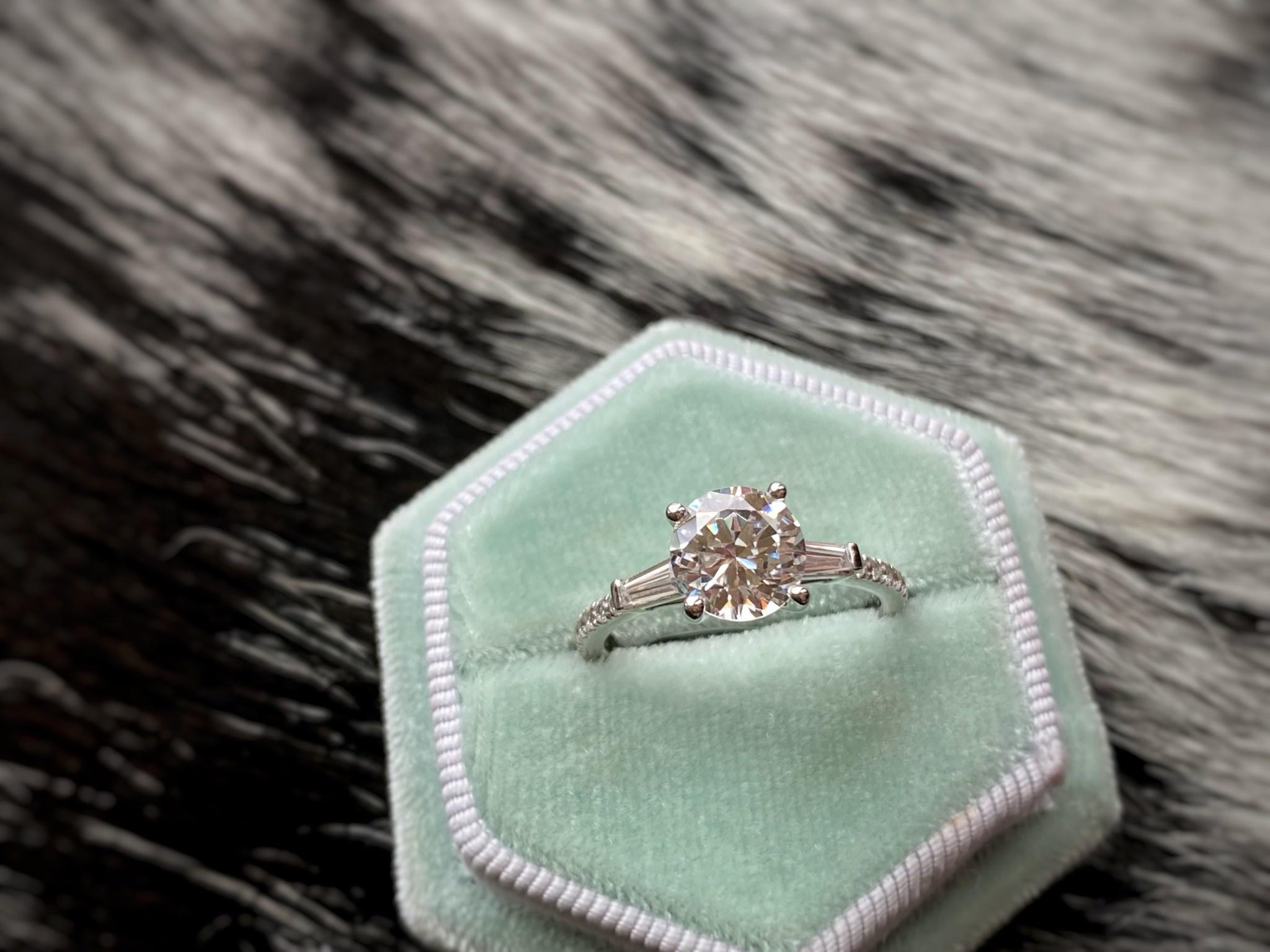 Baguette Diamond Semi-Mount 0.29ctw