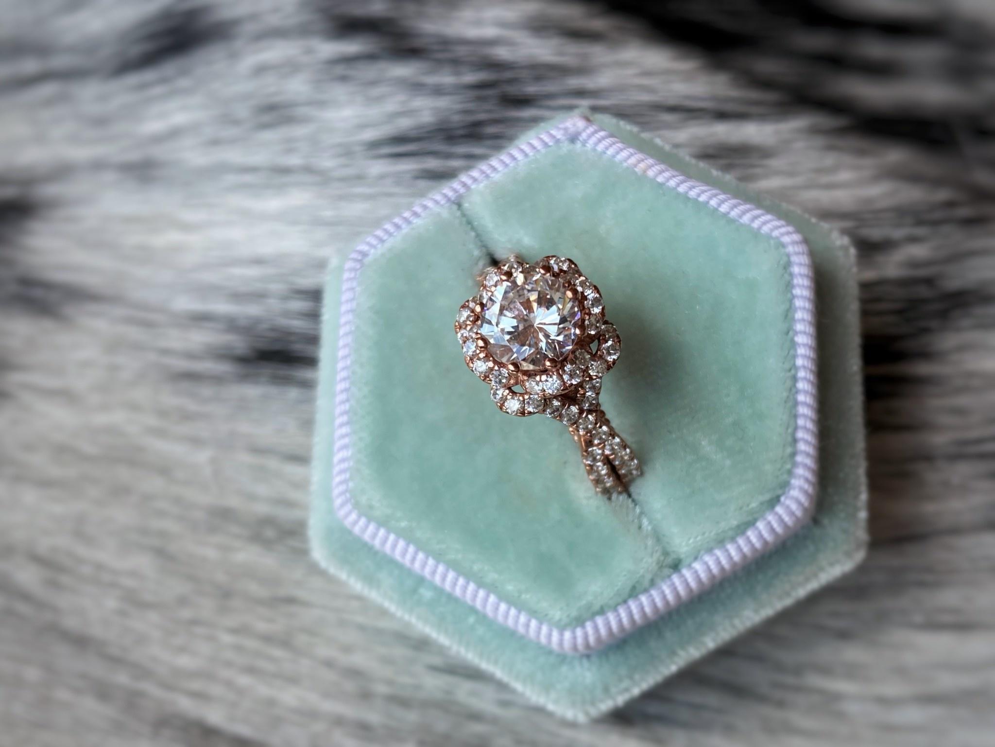 Diamond Floral Twist Semi-Mount 0.76tw