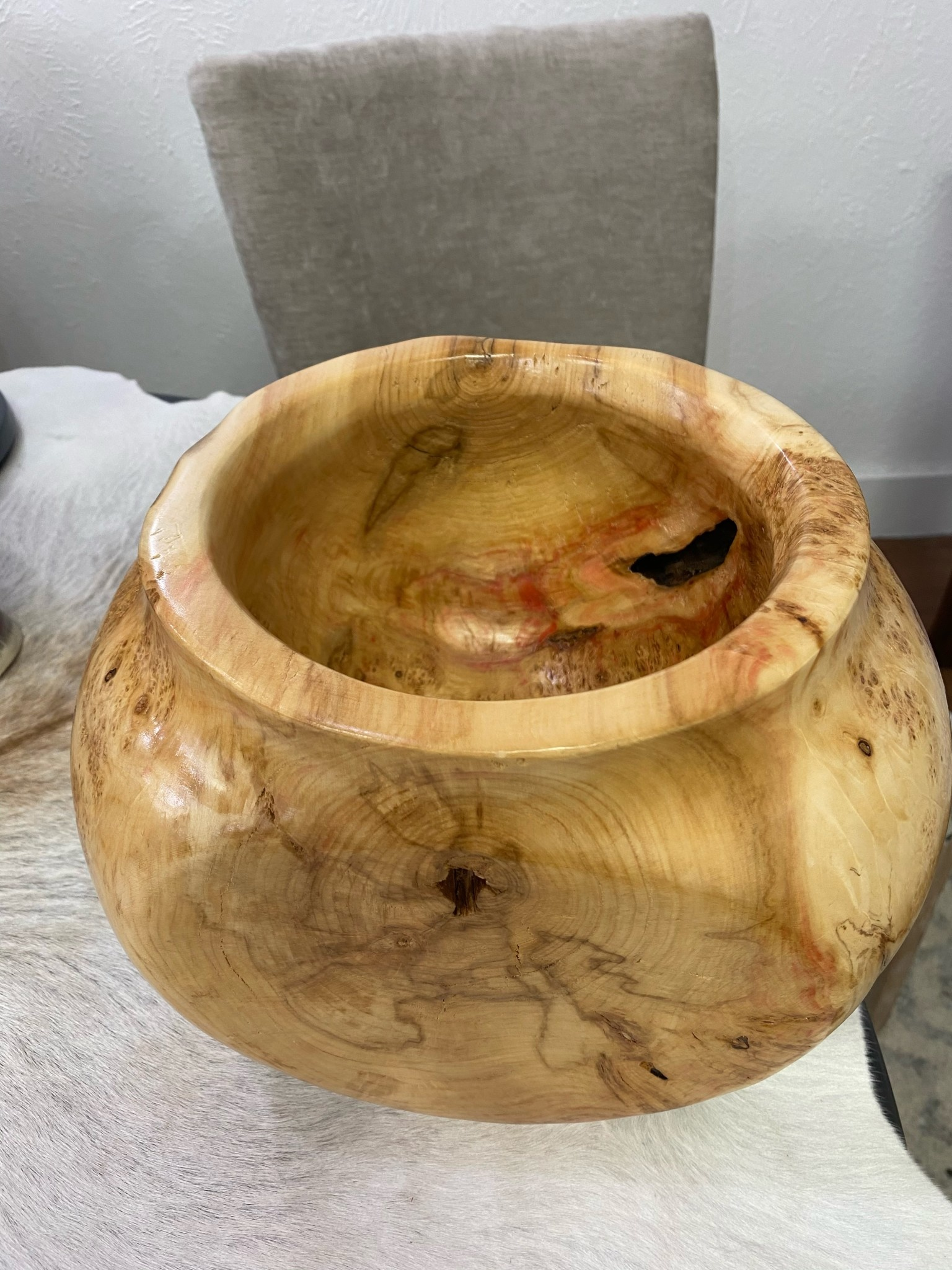 Burl Boxelder Wood bowl 1