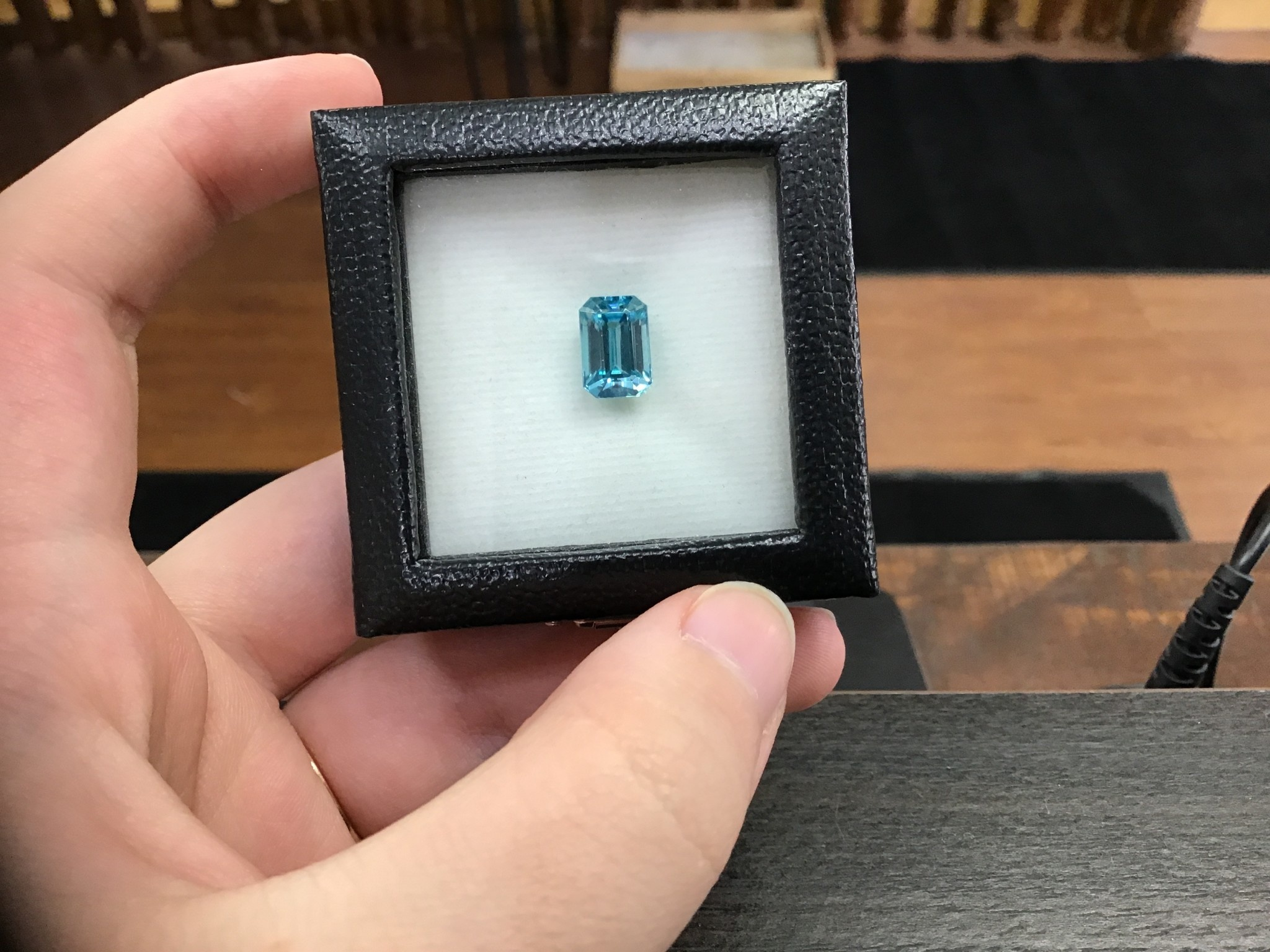 Loose Cambodia Blue Zircon