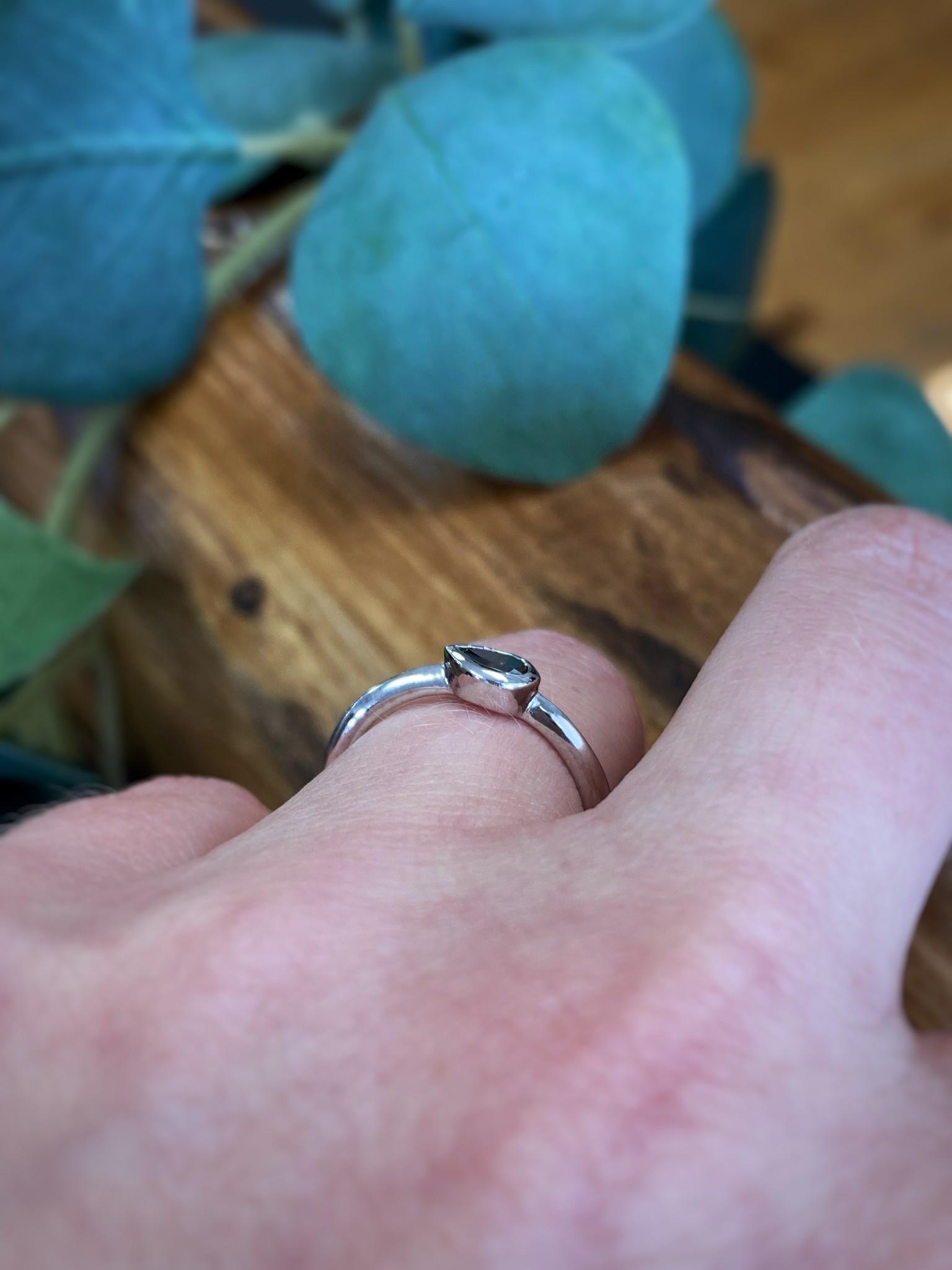 .23ct Pear Chocolate Diamond Ring
