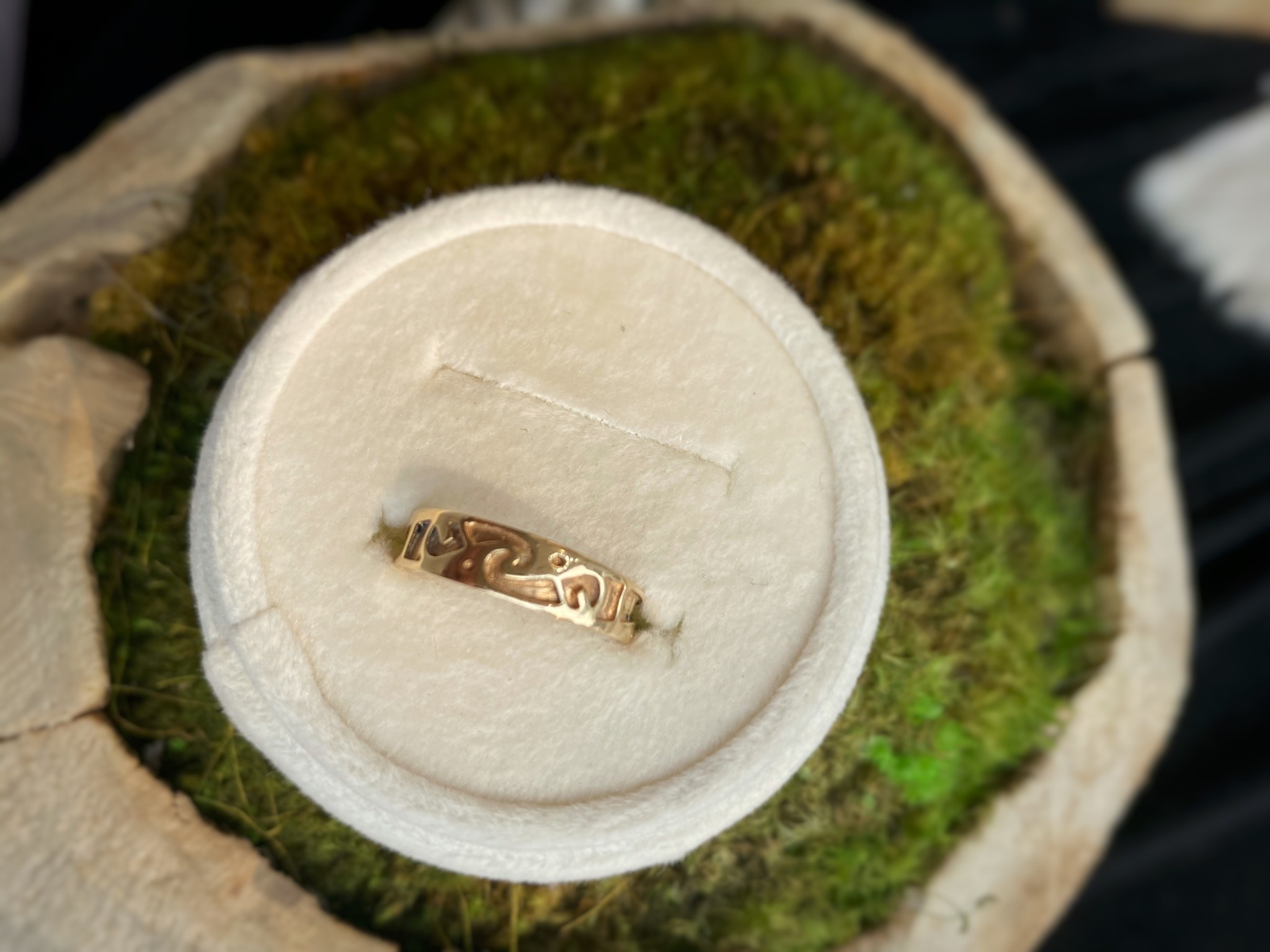 Yellow Gold Celtic Band Ring