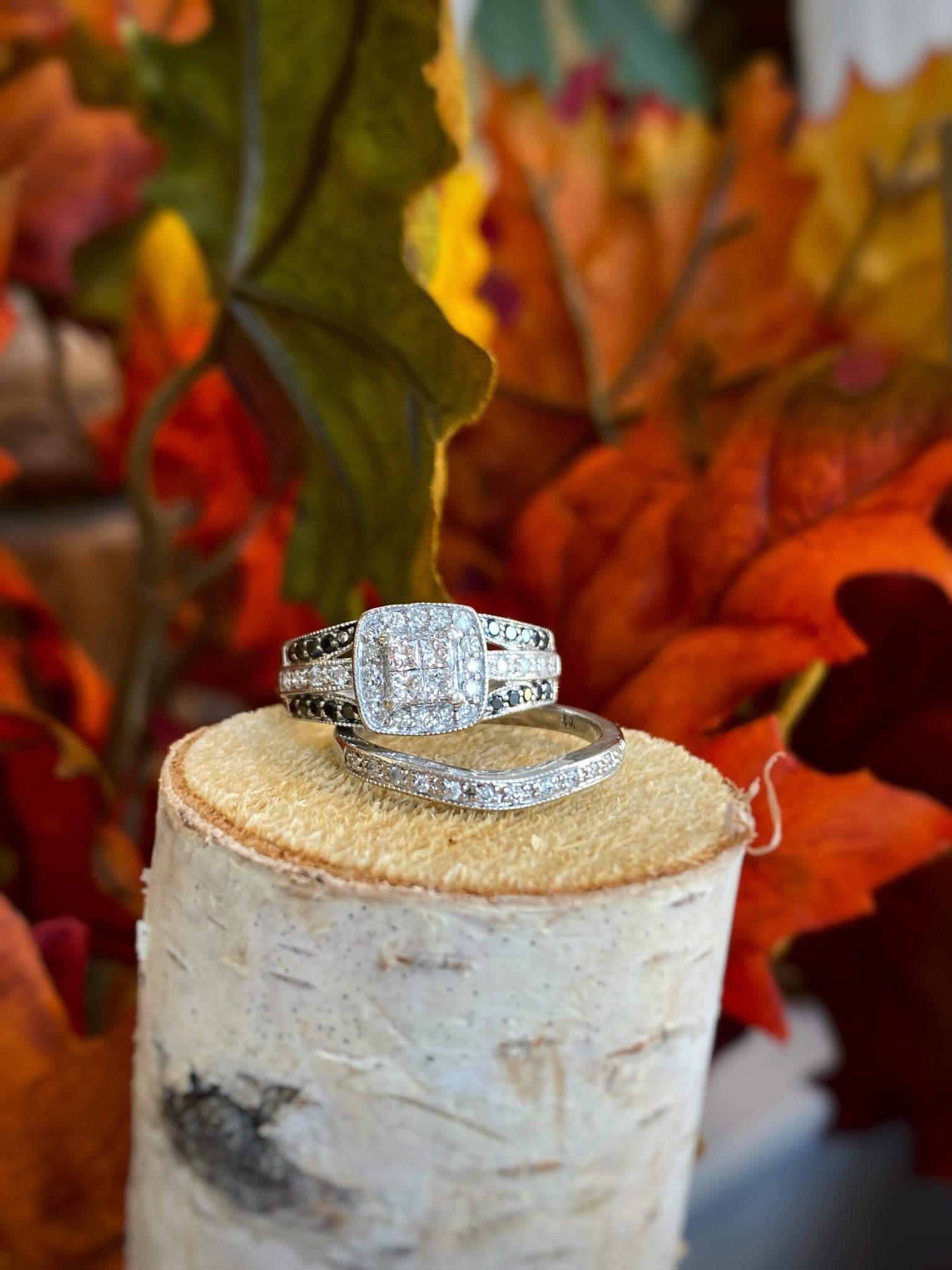 Quad Diamond Wedding Set