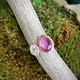 14K Rose Gold Pink Sapphire with Rose Quartz and Diamond Ring
