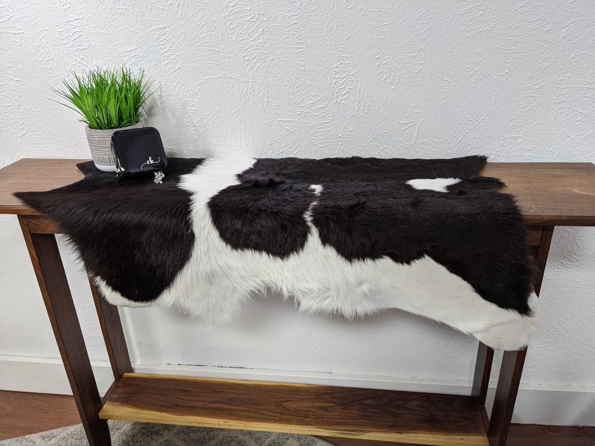 Black and White Calf Hide