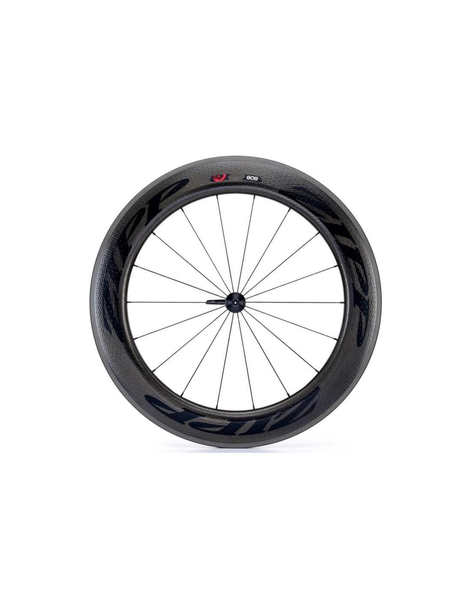 Zipp Zipp  808 Firecrest Clincher Wheel - Front 18H Black