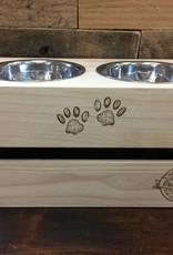 Ore Pet Ore' Pet Raised Wooden Food/Water Dish