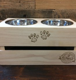 Ore Pet Ore' Pet Stainless Steel Crate Bowl Stand Set