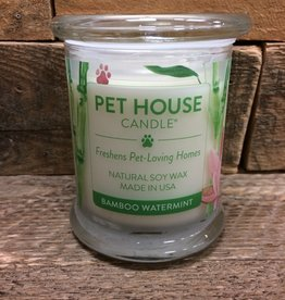 One Fur All One Fur All Pets, Candle Glass Jar- Bamboo Wintermint 8.5oz