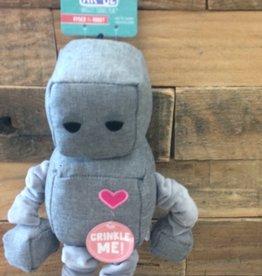 """SNUGAROOZ SNUGAROOZ Ryder Robot Grey 13"""" Dog Toy"""