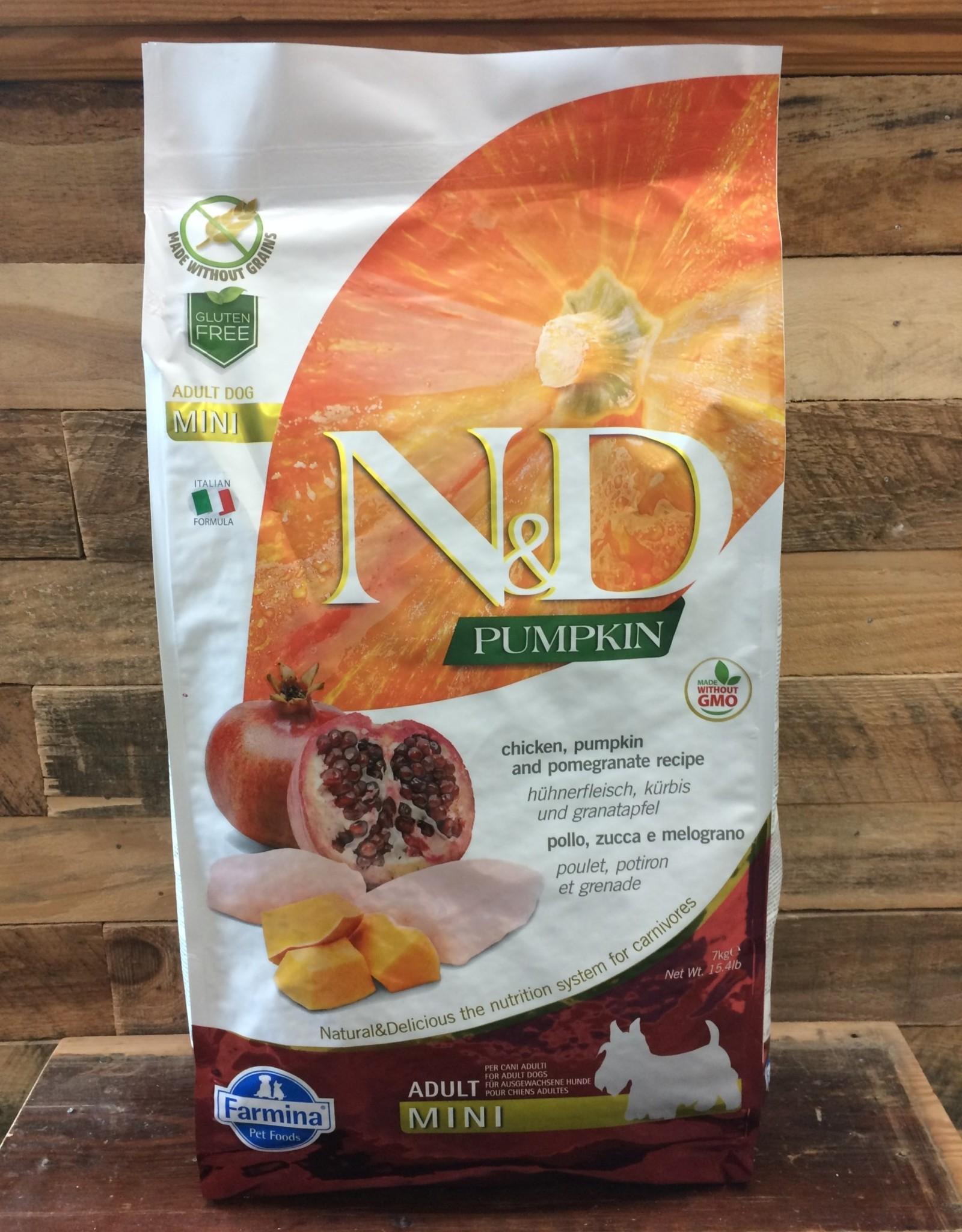 Farmina N&D pumpkin mini chicken dog 15.4#