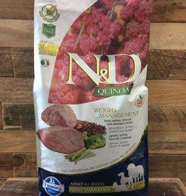 Farmina Farmina N&D Quinoa weight Lamb Quinoa dog 15.5#