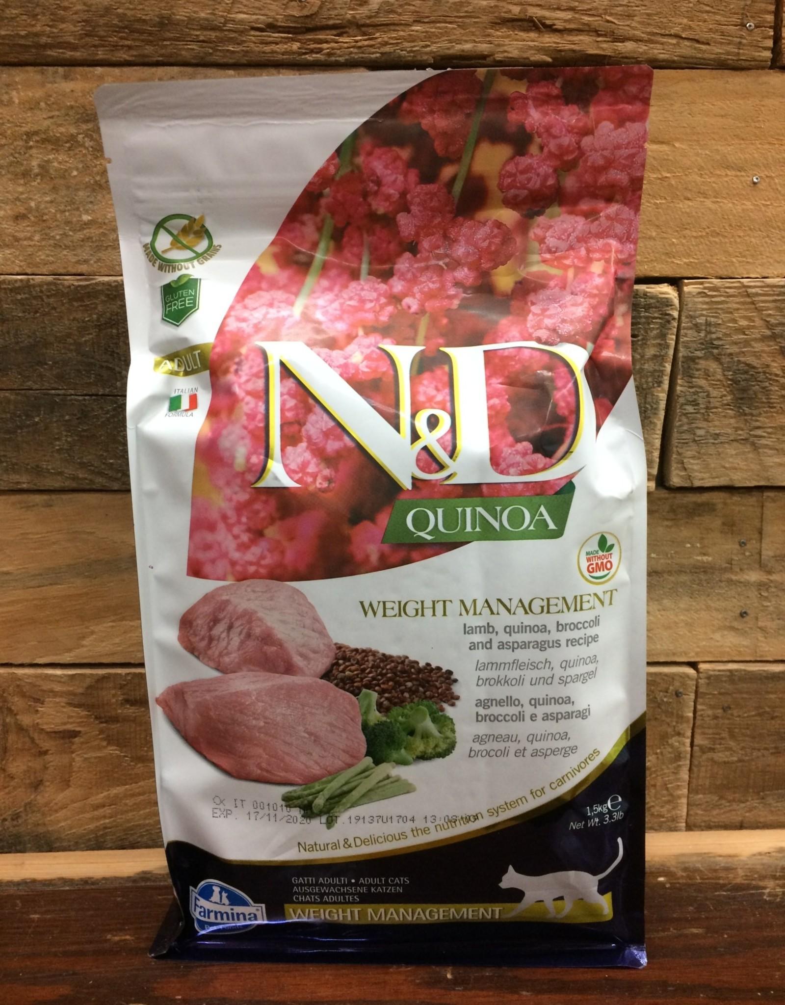 Farmina Farmina N&D Quinoa weight lamb cat 3.3#