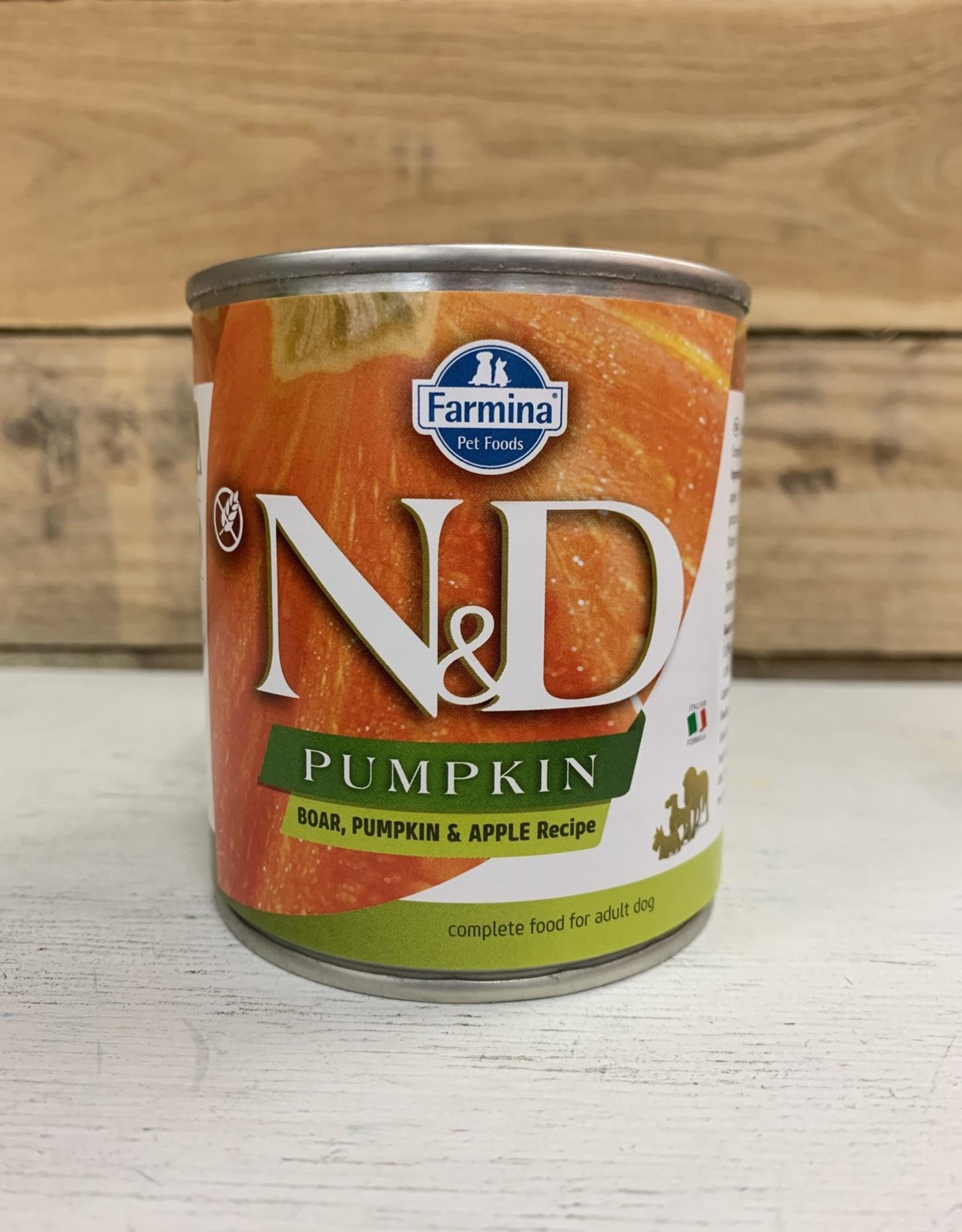 Farmina Farmina N&D Dog Pumpkin Boar & Apple Can 10.5oz