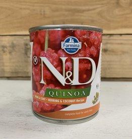 farmina N&D Quinoa skin & coat HERRING coconut dog 10.5oz can