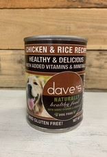 Daves Pet Food Daves Naturally Healthy Chicken & Rice dog 13oz
