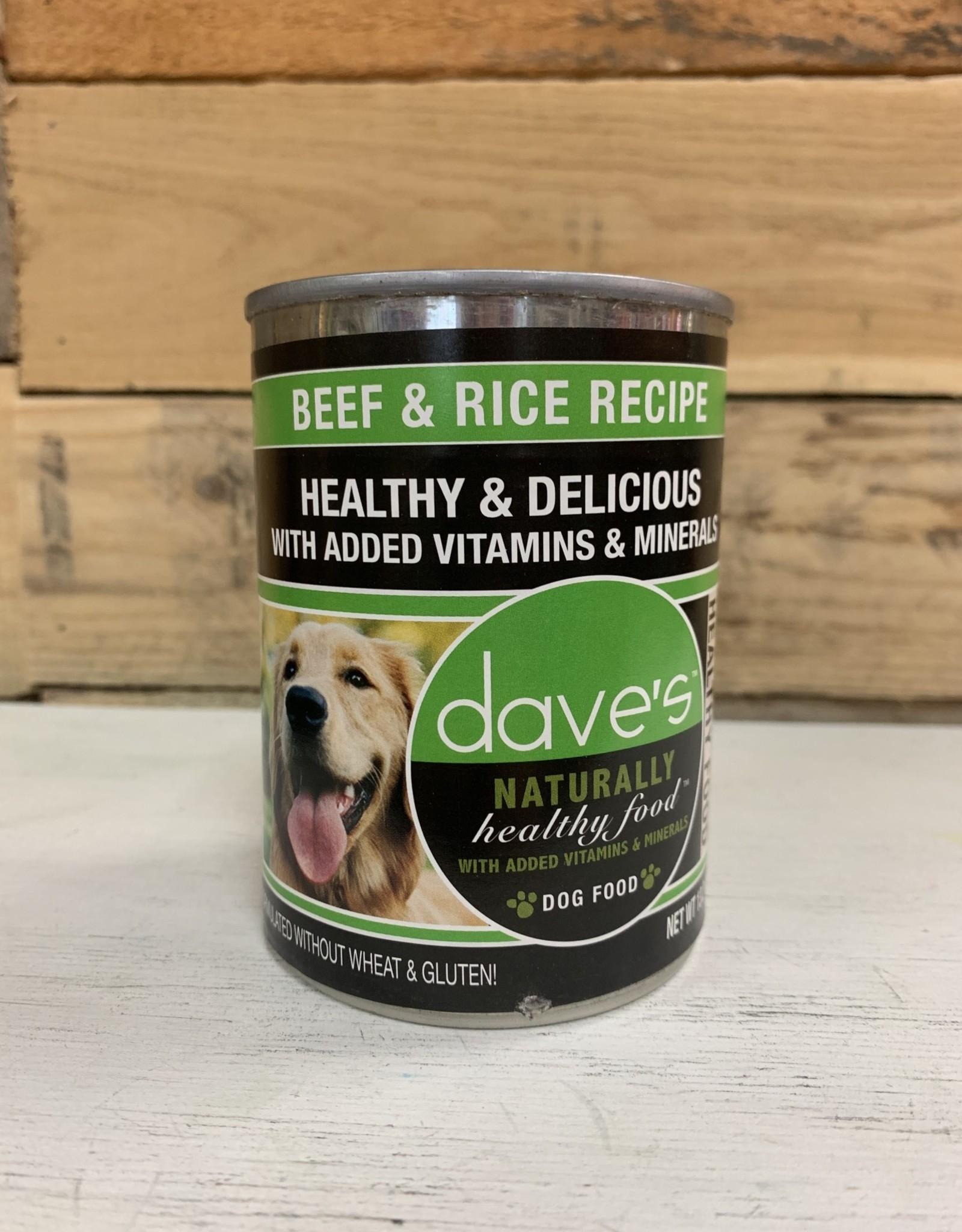 Daves Pet Food Daves Naturally Healthy Beef/Rice Dog 13oz