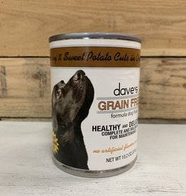 Daves Pet Food Daves GF Healthy & Delicious Turkey & Sweet Pot in gravy dog 13.2 oz