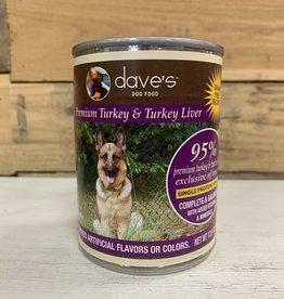 Daves Pet Food Daves 95% Turkey Dog 12.5oz