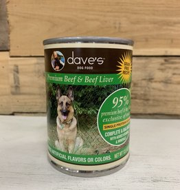 Daves Pet Food Daves 95% Beef Dog 13oz