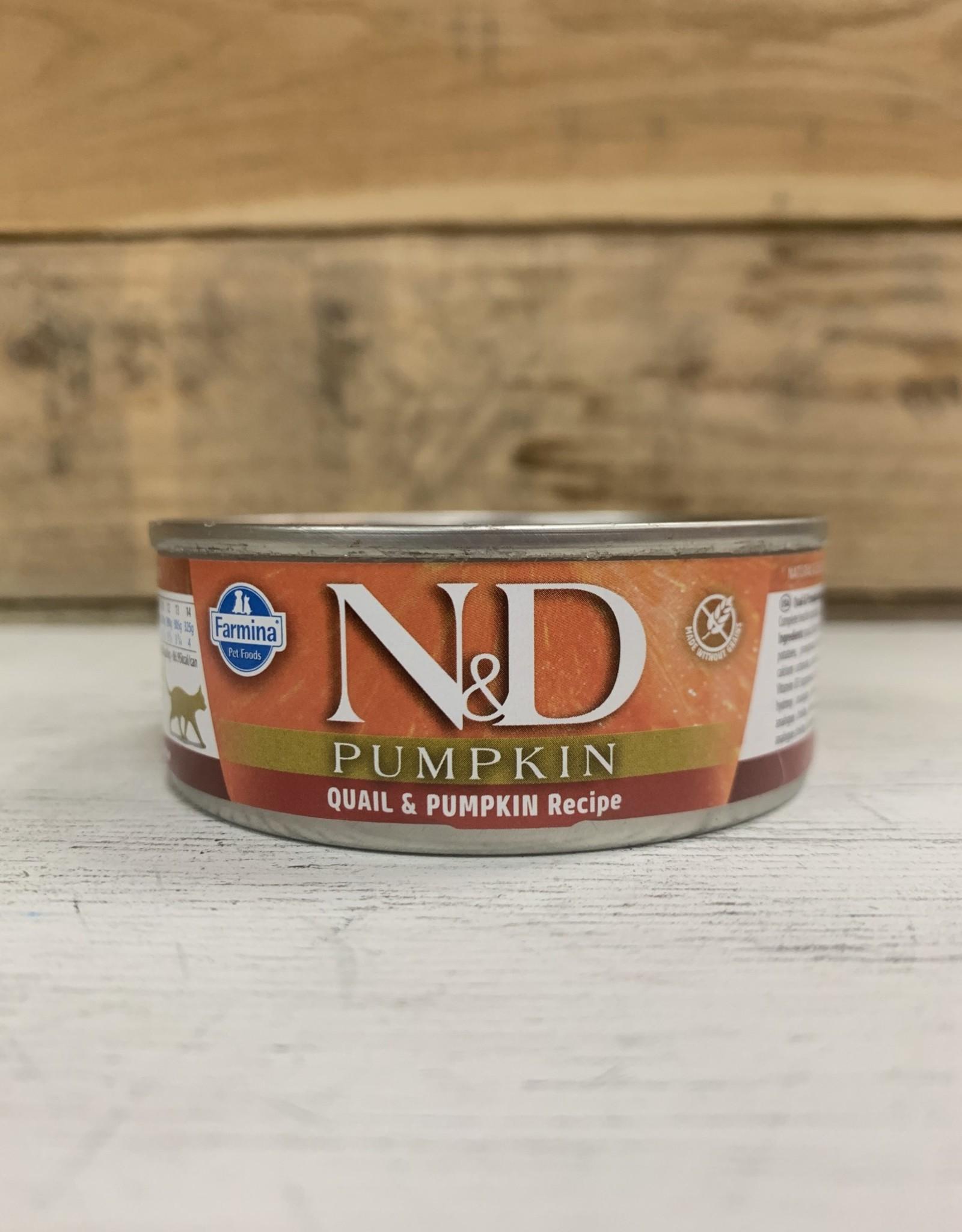 Farmina Farmina N&D cat Pumpkin Quail/Pom 2.8oz can