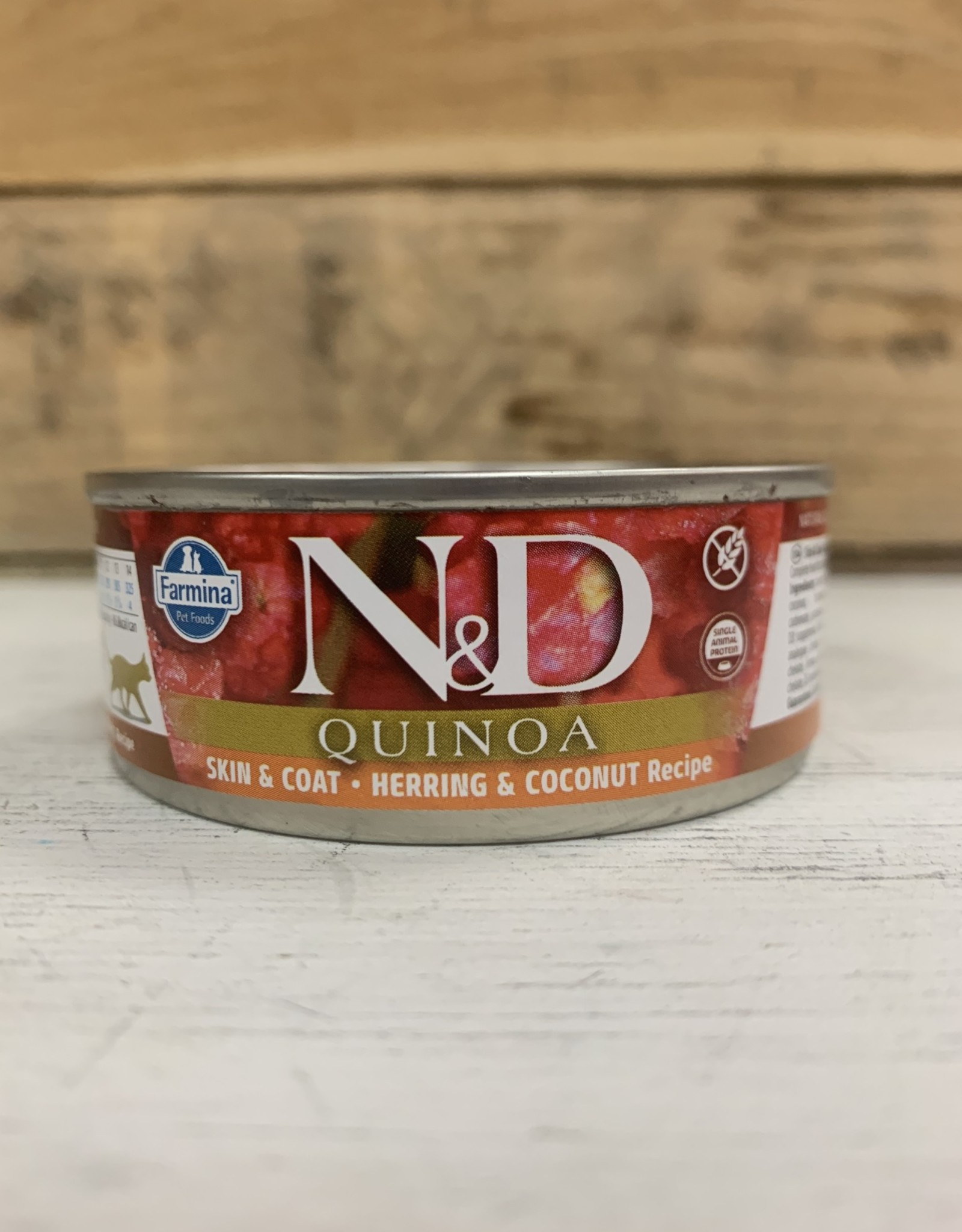 Farmina Farmina N&D cat Quinoa Skin&Coat Herring/Coconut 2.8OZ CAN