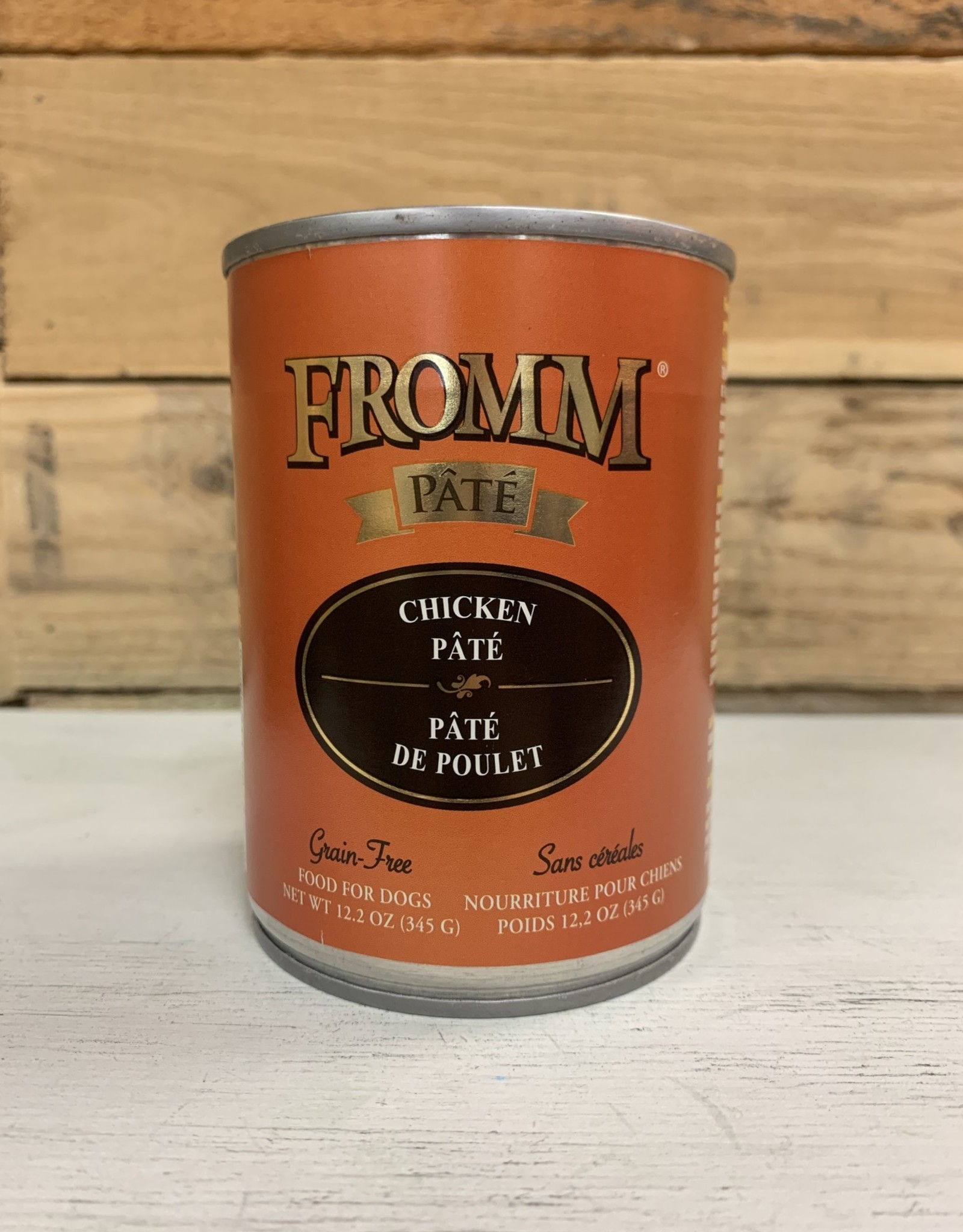 Fromm Family Foods Fromm Gold can Chicken pate dog 12oz