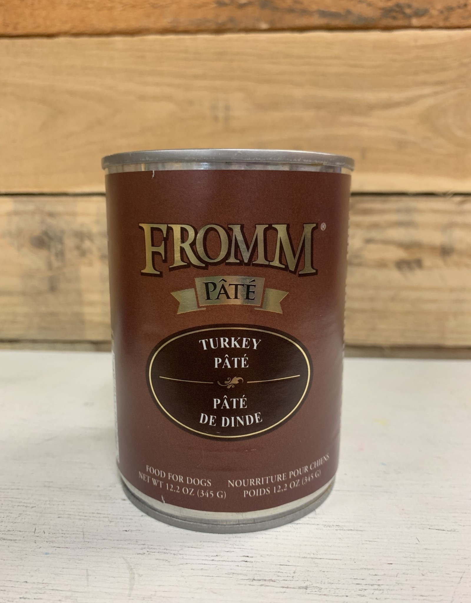 Fromm Family Foods Fromm Gold can Turkey pate dog 12oz